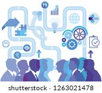 business life  development and... | Shutterstock . vector #1263021478