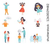 people suffering from mental... | Shutterstock .eps vector #1263029482