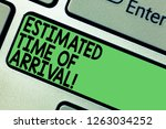text sign showing estimated... | Shutterstock . vector #1263034252