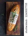 fresh homemade bread with... | Shutterstock . vector #1263037735