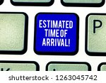 handwriting text estimated time ... | Shutterstock . vector #1263045742