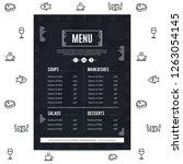 restaurant menu design | Shutterstock .eps vector #1263054145
