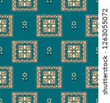 traditional seamless textile... | Shutterstock .eps vector #1263055072