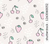 seamless pattern with... | Shutterstock .eps vector #1263060052