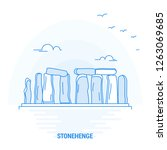 Stonehenge Blue Landmark....
