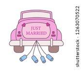 wedding car rental color icon....   Shutterstock .eps vector #1263070522