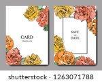 Vector Rose Flowers. Wedding...