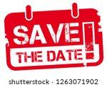save the date   calendar rubber ... | Shutterstock .eps vector #1263071902