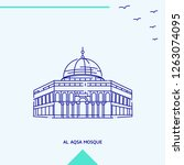 al aqsa mosque skyline vector...   Shutterstock .eps vector #1263074095