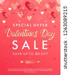 valentines day special offer... | Shutterstock .eps vector #1263089215