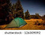tent illuminated with light in...   Shutterstock . vector #126309092