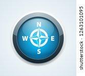 compass button illustration | Shutterstock .eps vector #1263101095