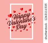 valentine's day background... | Shutterstock .eps vector #1263111535