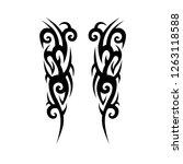 tribal symmetric pattern...   Shutterstock .eps vector #1263118588