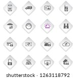 security flat rhombus web icons ... | Shutterstock .eps vector #1263118792