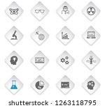 science flat rhombus web icons... | Shutterstock .eps vector #1263118795