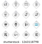 server flat rhombus web icons... | Shutterstock .eps vector #1263118798