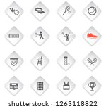 tennis flat rhombus web icons... | Shutterstock .eps vector #1263118822