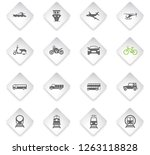transport flat rhombus web... | Shutterstock .eps vector #1263118828