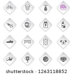 sport flat rhombus web icons... | Shutterstock .eps vector #1263118852