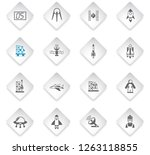 spacecrafts flat rhombus web... | Shutterstock .eps vector #1263118855