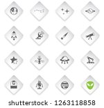 space flat rhombus web icons... | Shutterstock .eps vector #1263118858