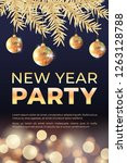 new year celebration party... | Shutterstock .eps vector #1263128788