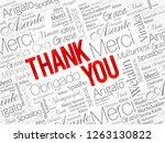 thank you word cloud concept... | Shutterstock .eps vector #1263130822