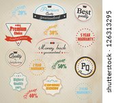 set of retro stickers and... | Shutterstock .eps vector #126313295