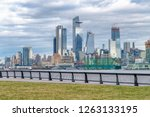 hudson yards skyscrapers and... | Shutterstock . vector #1263133195