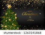 christmas card with a... | Shutterstock .eps vector #1263141868