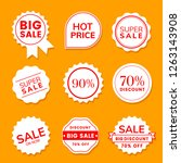 sale white banner collection | Shutterstock .eps vector #1263143908