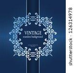 Vintage Card With Frame....