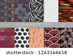 collection of seamless patterns.... | Shutterstock .eps vector #1263166618