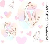seamless pattern. pink hearts...   Shutterstock .eps vector #1263171208