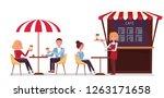 street coffee shop concept... | Shutterstock .eps vector #1263171658