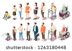 different generations isometric ... | Shutterstock .eps vector #1263180448