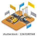 concrete production isometric...   Shutterstock .eps vector #1263180568