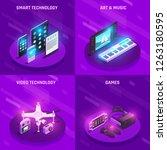 smart electronic technology... | Shutterstock .eps vector #1263180595