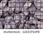 texture welded gabions | Shutterstock . vector #1263191698