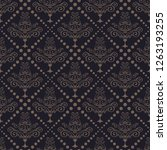 black seamless textures. vector ... | Shutterstock .eps vector #1263193255