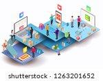 vector isometric composition... | Shutterstock .eps vector #1263201652