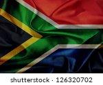 South Africa Grunge Waving Flag