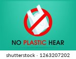 ideas to reduce pollution say... | Shutterstock .eps vector #1263207202