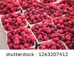 fresh fruits and vegetables... | Shutterstock . vector #1263207412