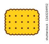 vector cartoon cracker icon... | Shutterstock .eps vector #1263234952
