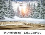winter table background and... | Shutterstock . vector #1263238492