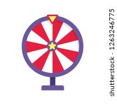 red and purple fortune wheel... | Shutterstock .eps vector #1263246775