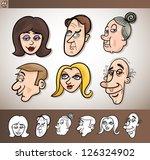 cartoon illustration of funny... | Shutterstock .eps vector #126324902