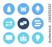 chatbot icon set and chatbot...